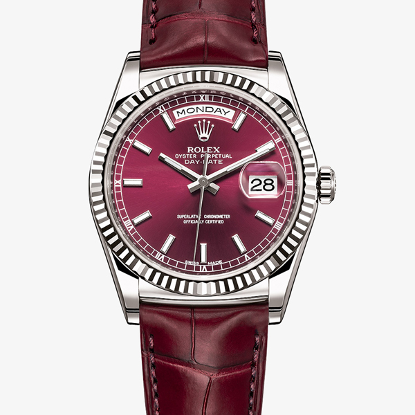 Day-Date Rolex bordeaux